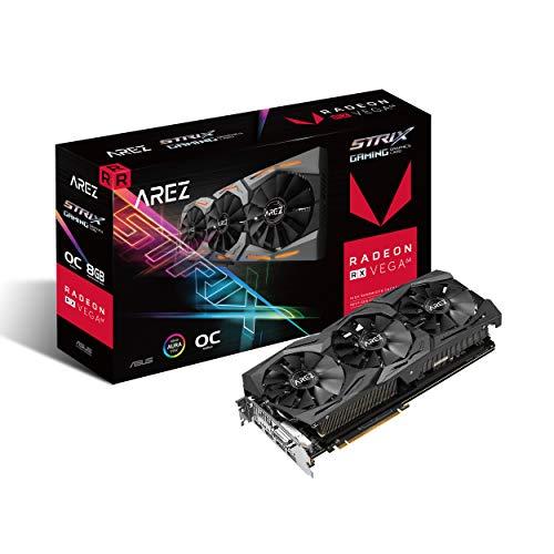 Asus Arez Strix Radeon Rx Vega64 8gb Oc Edition Vr Ready 5k Hd Gaming Dp Hdmi Dvi Amd Gaming Graphics Card Graphic Cards Arez-strix-rxvega64-o8g-gaming
