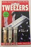 3 Pack Uncle Bill's Sliver Gripper Precision Tweezers in a Recloseable Tube