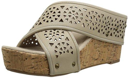 Bones Platform Sneaker (Madeline Women's Devo Platform Sandal, Bone, 7.5 M US)