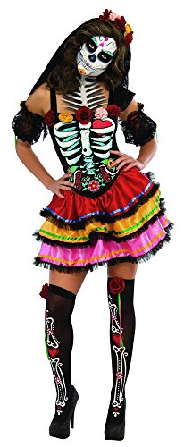 Rubie's Costume Co Women's Day Of The Dead Senorita Costume, Multicolor, Large