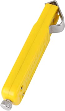 Yellow 8-28mm Cable Wire Stripper Stripping Cutter For PVC Rubber Silicone