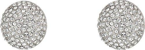 Nina Womens E-Alvee Clip On Earrings, Rhodium/White, One ()