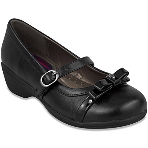 French Toast Girls Anna Uniform Dress Shoe 5 Black