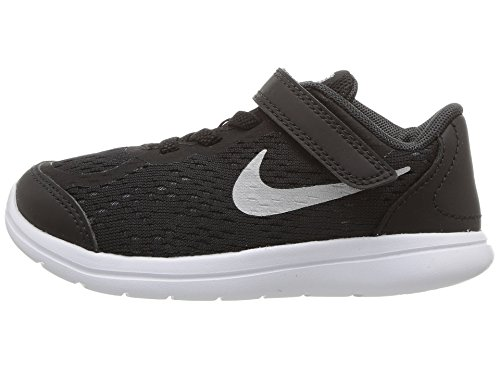 (Nike 904239-001 : Baby Boys Flex RN Sense Athletic Shoe Black (Black/Metallic Silver, 4 M US Toddler))