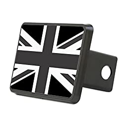 CafePress - Union Jack - Black And White Hitch Cover - Trailer Hitch Cover, Truck Receiver Hitch Plug Insert