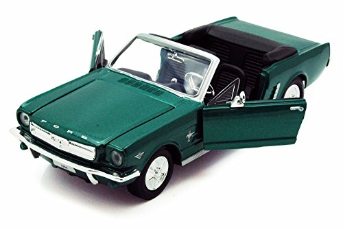 1964 1/2 Ford Mustang Convertible, Green - Motormax 73212 - 1/24 scale Diecast Model Toy Car 1964 1/2 Mustang Convertible