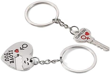 キーホルダー キーリング バッグチャーム メンズ レディース 小物 アクセサリー 取り外し可能 心型 鍵型