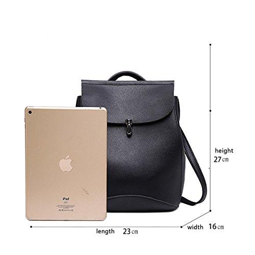 Sunas 2017 nuevas señoras bolsa de hombro de moda impermeable multiusos estudiante mochila bolsa de viaje de ocio bolsa negro