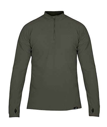 Vert mousse grand Páramo Directional Clothing Systems Grid Technic Athletic Couche de Base Homme