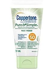 Coppertone Mineral Sunscreen lotion pure and Simple Face