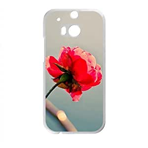 Red Flower Fashion Personalized Phone Case For HTC M8 by ruishername