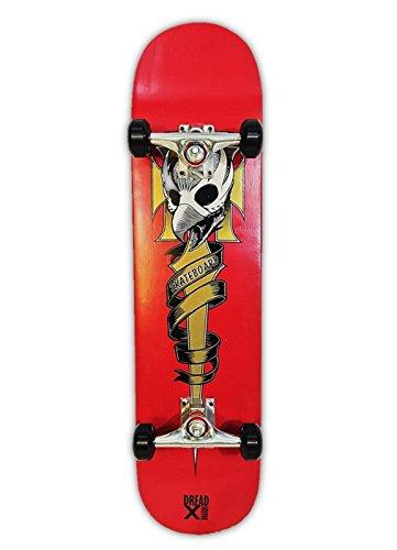 Dreadxboards 31x8-inch Double Kick-Tail Skateboard Fully Ass