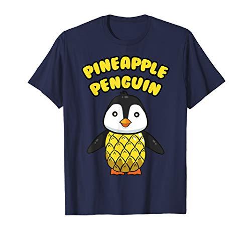 (Pineapple Penguin Shirt Aquatic Bird Tropical Fruit Gift)