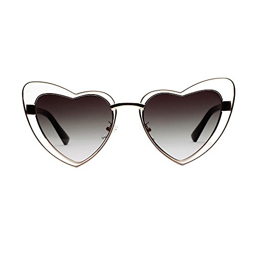 Sunglasses Retro Buauty Style UV Heart Sunglasses Eye Cat Shaped Green Grey Vintage UnTwOxT