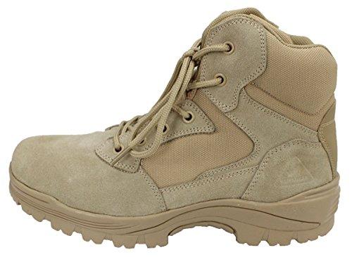 Ryno Tannhjuls Taktiske Militærstøvler Med Coolmax Foring (beige)