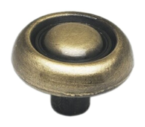 Importing Antique Brass - Achim Home Furnishings 727-KNB-24 Cabinet Knob, Antique Brass, Set of 6