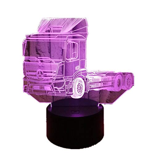 YSNJL Colorful Touch 3D LED Vision Light USB Gift 98D Small Table Lamp
