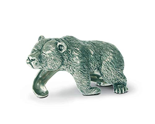 Vagabond House Pewter Sleeping Bear Napkin Ring 4.25