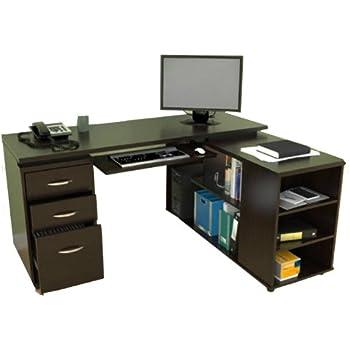 Amazon.com: Inval ET-3215 L Shaped Computer Desk: Kitchen & Dining