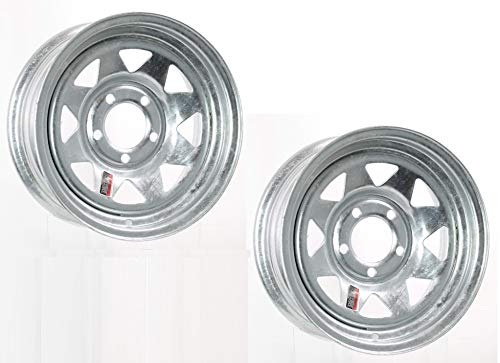 (2-Pack Trailer Wheel Galvanized Rims 15 x 6 Spoke Style (5 Lug On 4.5 in.) Steel)
