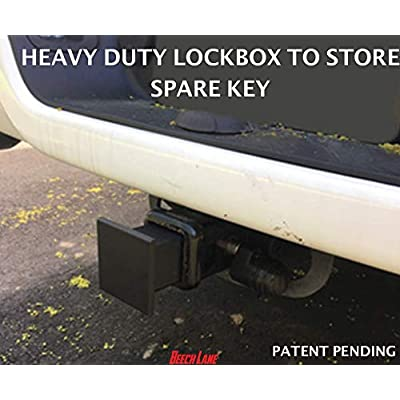 Beech Lane Locking Hitch Storage Box, Included Combo Lock Hitch Pin, Sturdy and Secure, Large Storage Space, Waterproof: Automotive