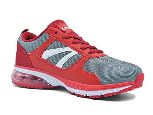 Leggero Fitness Donna Interior e Traspirante Sneakers Corsa Knixmax Air Casual all'Aperto Basse Ammortizzazione Scarpe Sportive Rosso d7qgYpUx