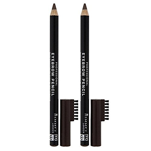 Rimmel London Professional Eyebrow Pencil - Dark Brown - 2 pk