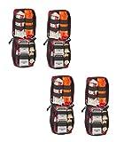 Individual Bleeding Control Kit- Basic,Nylon Bag, Red (4 Pack)
