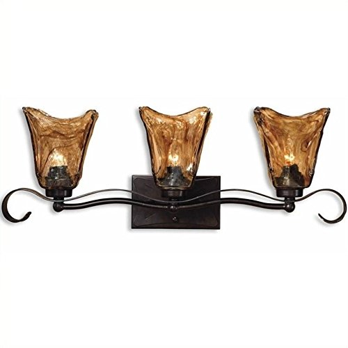 Uttermost 22801 Vetraio 3-Light Vantity Strip, Oil Rubbed Bronze Finish