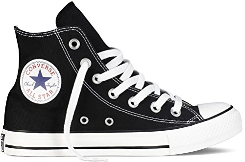 (Converse Chuck Taylor All Star Classic High Top Sneakers - Black US Men 5.5 / US Women)