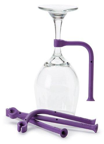 Quirky Tether Stemware Saver - Flexible Dishwasher Attachment Wine Holder Set