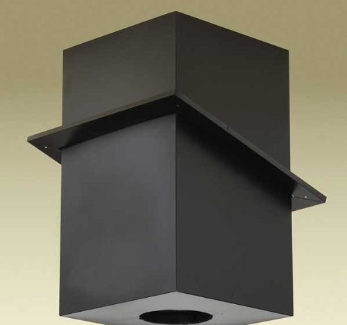 Chimney 69880 8 in. Dura-Vent Dura-plus Cathedral Ceiling Support- Galvalume Painted Black- Trim Collar Included - Cathedral Ceiling Support Box