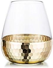 Glas Bloem Arrangement Vazen met Gouden Honingraat Bloemen Vaas Decor Eettafel Centerpieces Geschenken voor Bruiloft Housewarming Party, 2 #