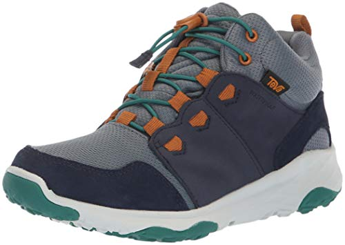 Teva Boys' Arrowood 2 MID WP Hiking Shoe, Midnight Navy, 05 M US Big Kid