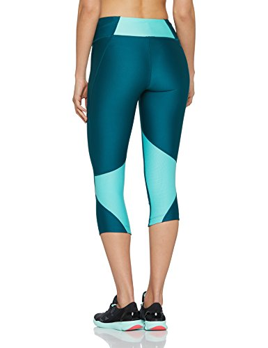 Under Armour Women's Armour Fly Fast Capris, Tourmaline Teal /Reflective, X-Small by Under Armour (Image #2)