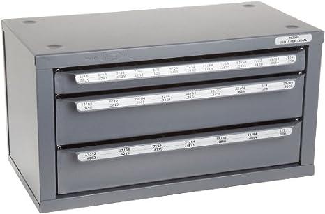 Huot Three-Drawer Drill Bit Dispenser Cabinet for Jobber Length ...