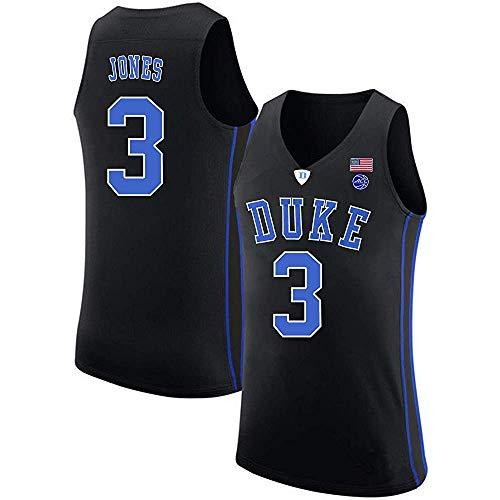 Men's/Women's/Youth_TRE_Jones_Duke_Blue_Devils_College_Black_Jersey