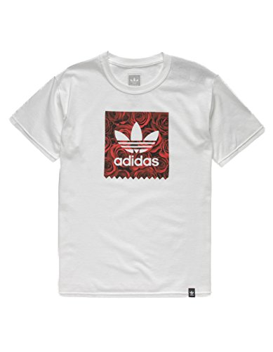 adidas Rose Blackbird Boys T-Shirt, White, Small