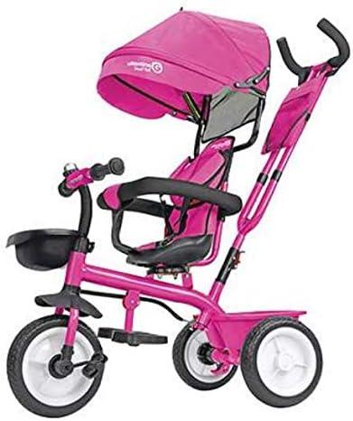 Globo Triciclo de Metal con Pedales con Parasol Rosa, 1