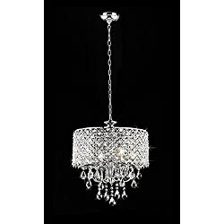"Whse of Tiffany RL5633 Deluxe Crystal Chandelier, 9"" x 17"" x 17"""