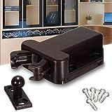 BoBoLing Push Catch/Drawer Locker/Magnetic Door Drawer Cabinet Catch Touch Latch Cupboard Locker Black 1 Pair