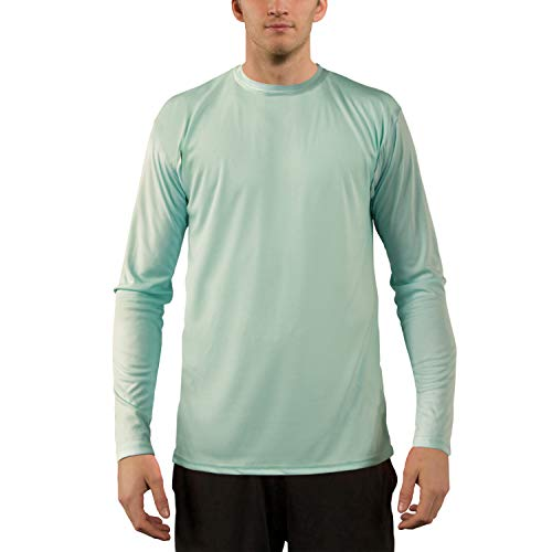Seagrass Apparel - Vapor Apparel Men's UPF 50+ UV Sun Protection Performance Long Sleeve T-Shirt X-Large Seagrass
