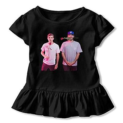 Kids The Chainsmokers Music Band Girls Petticoat Falbala T-Shirt Unique Tee Skirt Dresses 2-6T
