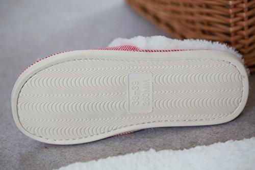 TOFERN Damen/Mädchen Pantoffeln Hausschuhe Plüsch hellfarbig süß Winter Wohnzimmer Schlafzimmer, Rosa EU 39-40