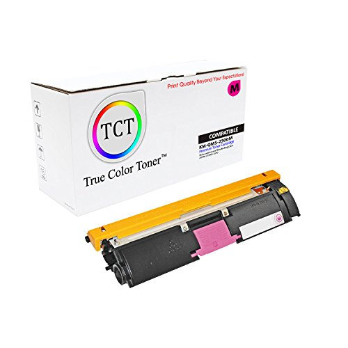TCT Premium Compatible Toner Cartridge Replacement for QMS 2500 1710587-006 Magenta Works with Konica Minolta Magicolor 2500W 2530DL 2550 Printers (8,000 Pages)
