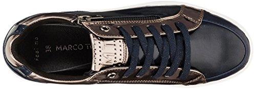 Tozzi Marco Azul p Zapatillas 23600 Navy para Str c Mujer 7cqFfv
