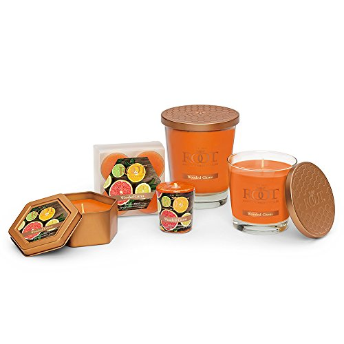 Root Legacy Travel Tin Beeswax Candle, Wooded Citrus