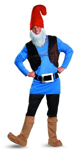 Disguise Men's Papa Gnome Costume, Blue/Brown/Red, X-Large (Gnome Halloween Costume)
