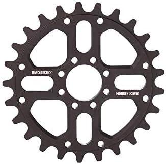 RMD Bike Co. | 22&2 plato BMX MTB Dirt | 23T 25T 28T | Negro y Rojo | Fabricado en Polonia |: Amazon.es: Deportes y aire libre