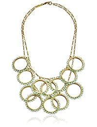 Lenora Dame Abbey Pearl Statement Strand Necklace